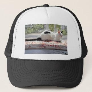Kitty Cat Relaxing in a Sunny Window Trucker Hat