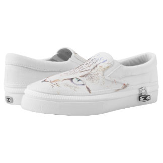 Kitty cat slip on shoes