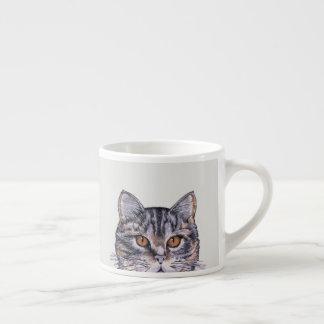 Kitty Cat Tabby 6oz Espresso Coffee Friend Espresso Cup
