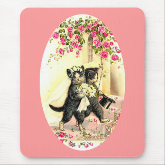 Kitty Cat Wedding Mouse Pad