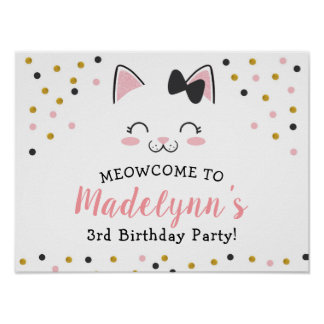 Kitty Cat Welcome Sign