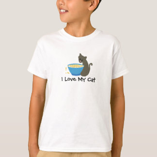 Kitty Cat with Food Dish T-Shirt