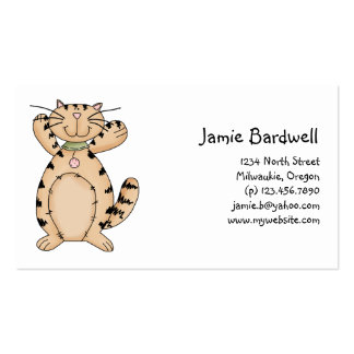 Kitty Cats · Beige Tabby Kitty Business Card Template