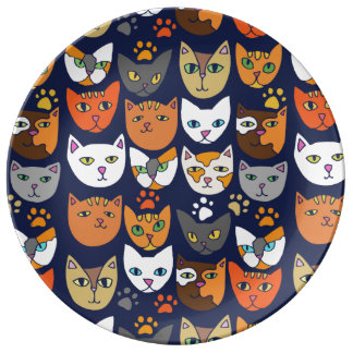 Kitty Cats Everyday Caturday Plate