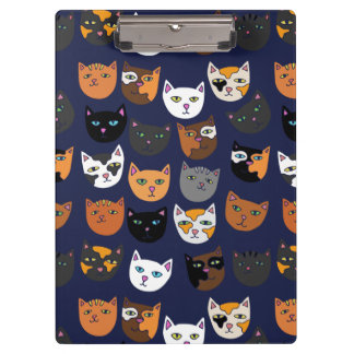 Kitty Cats everywhere pattern Clipboards