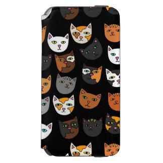 Kitty Cats everywhere pattern Incipio Watson™ iPhone 6 Wallet Case
