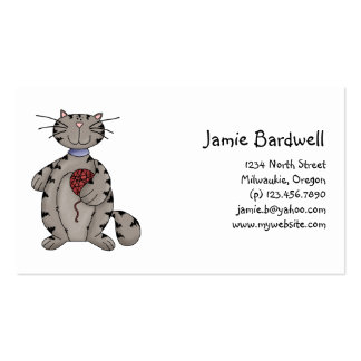 Kitty Cats · Grey Kitty & Wool Business Card Template