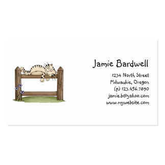 Kitty Cats · Kitty on Fence Business Card Template