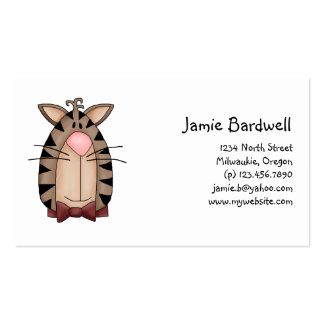 Kitty Cats · Tabby Cat Face Business Card