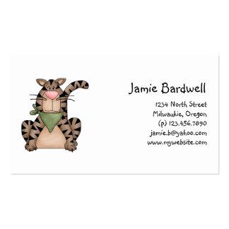 Kitty Cats · Tabby Cat with Green Bandana Business Card Templates