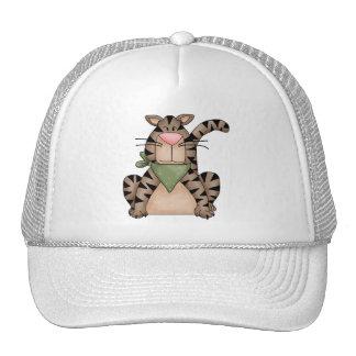 Kitty Cats · Tabby Cat with Green Bandana Mesh Hats