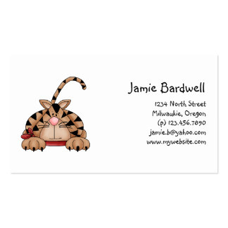 Kitty Cats · Tabby Cat with Red Bandana Business Card