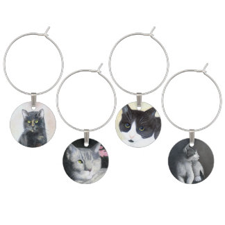 Kitty Cats Wine Charm