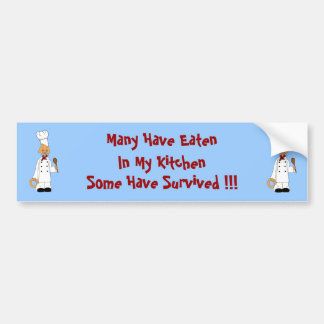 Kitty Chef Bumper Sticker