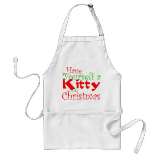 Kitty Christmas Holiday Apron