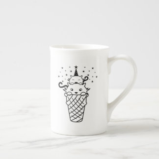 Kitty Cone Ice Cream - Funny cats Tea Cup