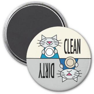 Kitty dishwasher grey turquoise magnet