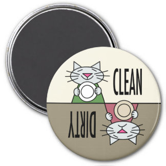 Kitty dishwasher muted colors magnet