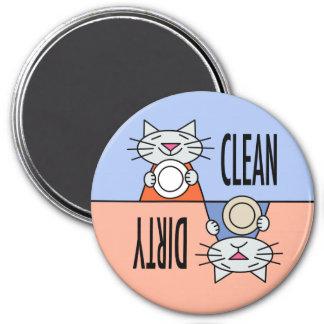 Kitty dishwasher orange blue magnet