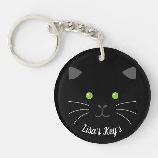 Kitty Face Key Ring