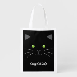 Kitty Face Reusable Grocery Bag