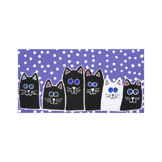 Kitty Family Canvas Print