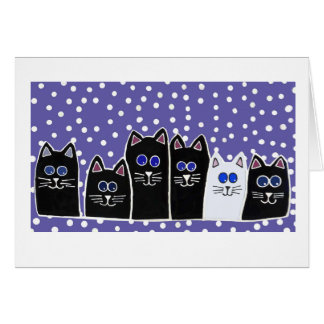 Kitty Family Note Card