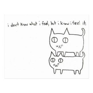 Kitty Feelings Postcard
