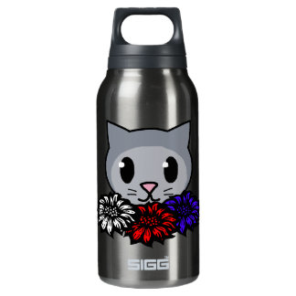 Kitty & Flowers for Kids 0.3 Litre Insulated SIGG Thermos Water Bottle
