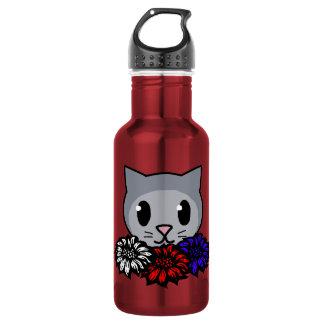 Kitty & Flowers for Kids 532 Ml Water Bottle