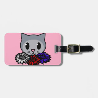 Kitty Flowers for Kids Travel Bag Tag