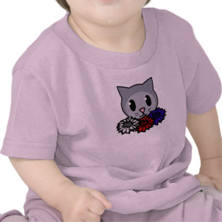 Kitty Flowers for Kids Shirts