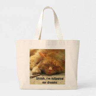 Kitty follows his Dreams Jumbo Tote Bag