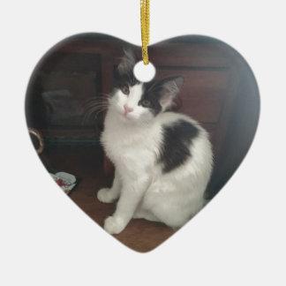 Kitty Fun! Ceramic Heart Decoration
