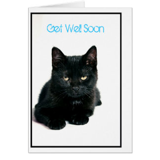 kitty, Get Well Soon Note Card