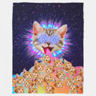 Kitty God Supreme Collage Fleece Blanket