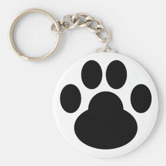 Kitty Gogo Pawprint Keychain