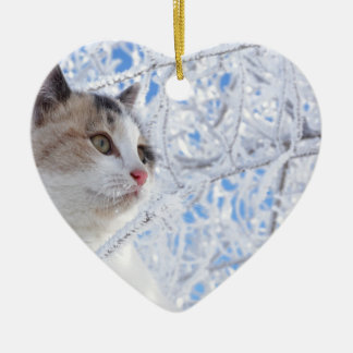 Kitty Ice Queen Ceramic Heart Decoration