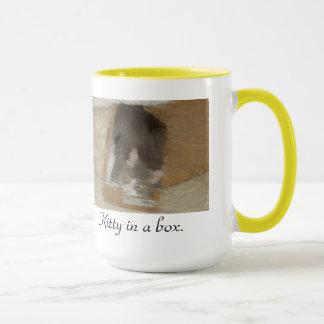 Kitty in a box. mug