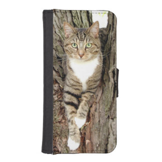 Kitty in a tree iPhone SE/5/5s wallet case