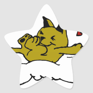 Kitty in Love Star Sticker