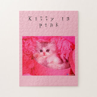 Kitty in Pink Puzzle