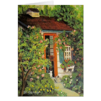 Kitty in the Garden Shed Card