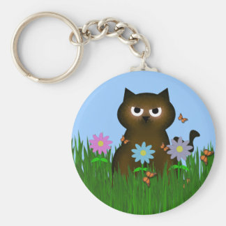 Kitty Kat Collection Basic Round Button Key Ring