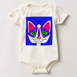 Kitty Kat on a Baby Baby Bodysuit
