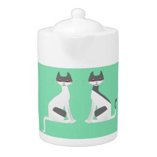 Kitty Kat Porcelain Teapot