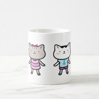 Kitty Kids Next to Each Other Mugs