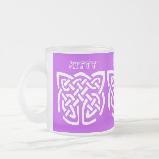 Kitty Kitty Frosted Glass Coffee Mug