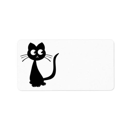 Kitty Kuro Address Label