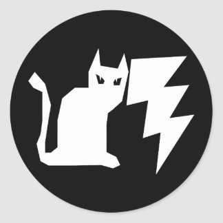 Kitty Lectro Lightning Classic Round Sticker